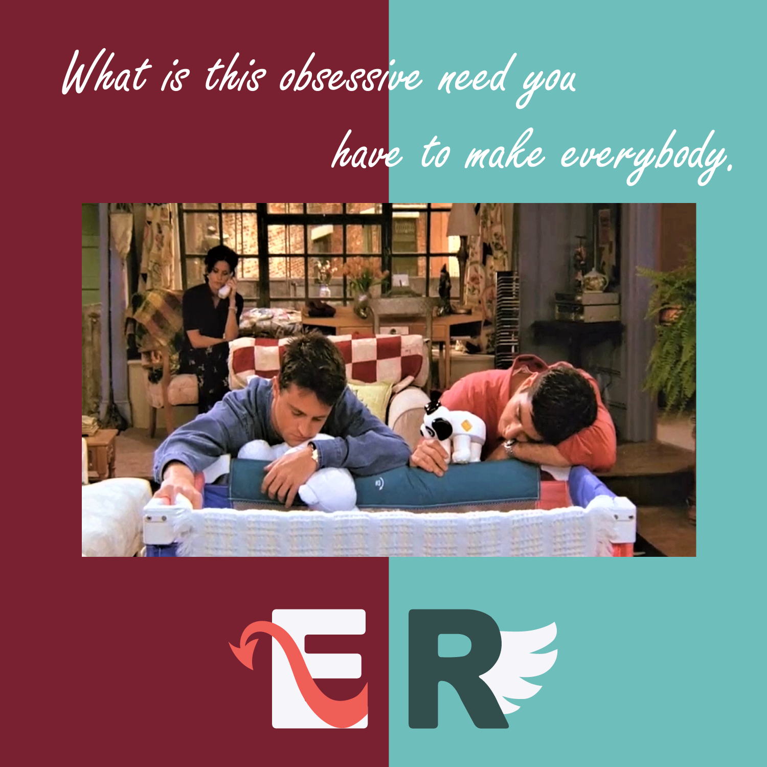 EP.11 六人行 Friends|What is this obsessive need you have to make everybody. 開始第二季的那集