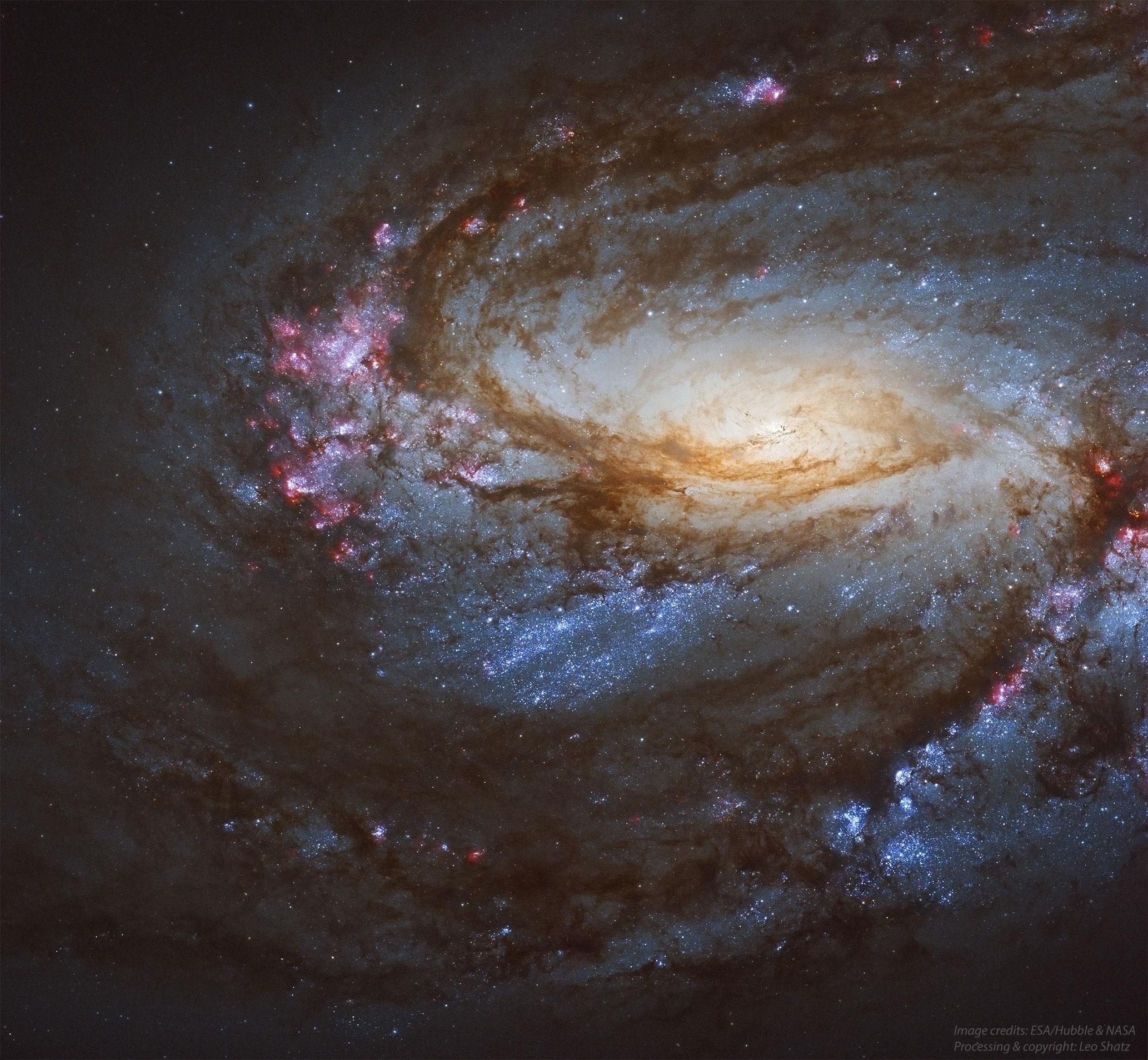 哈伯 hip--ê 捲螺仔星系 M66 ft. 彪彪 (20210224)
