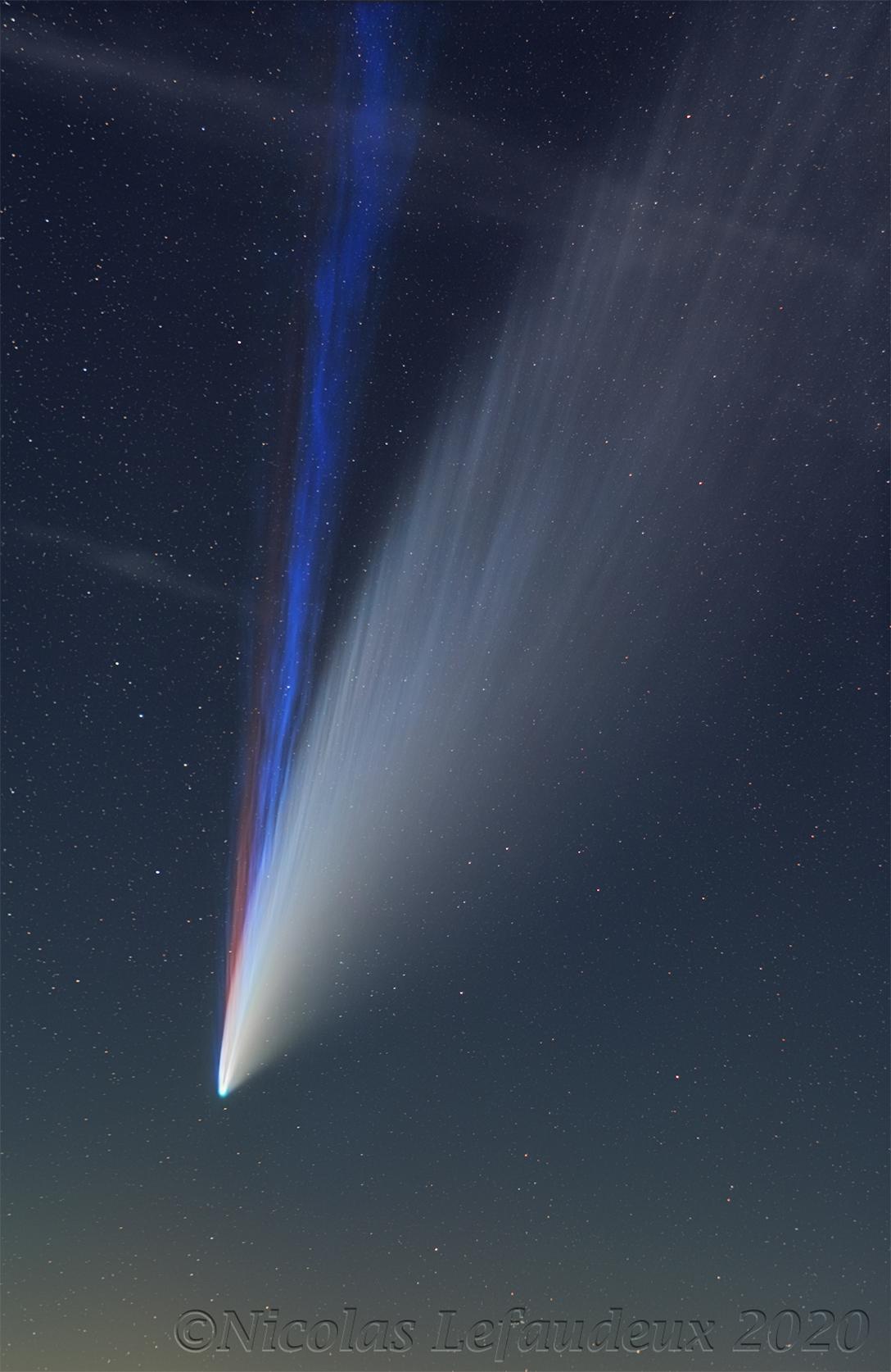 NEOWISE 彗星 ê 三條尾溜 ft. 阿錕 (20210308)