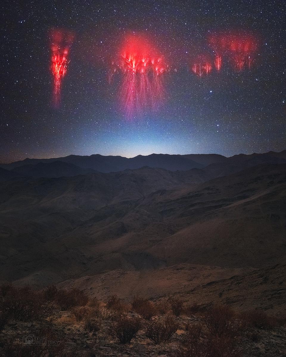 Andes 山脈面頂 ê 紅色精靈爍爁 ft. 蔡老師 (20210330)