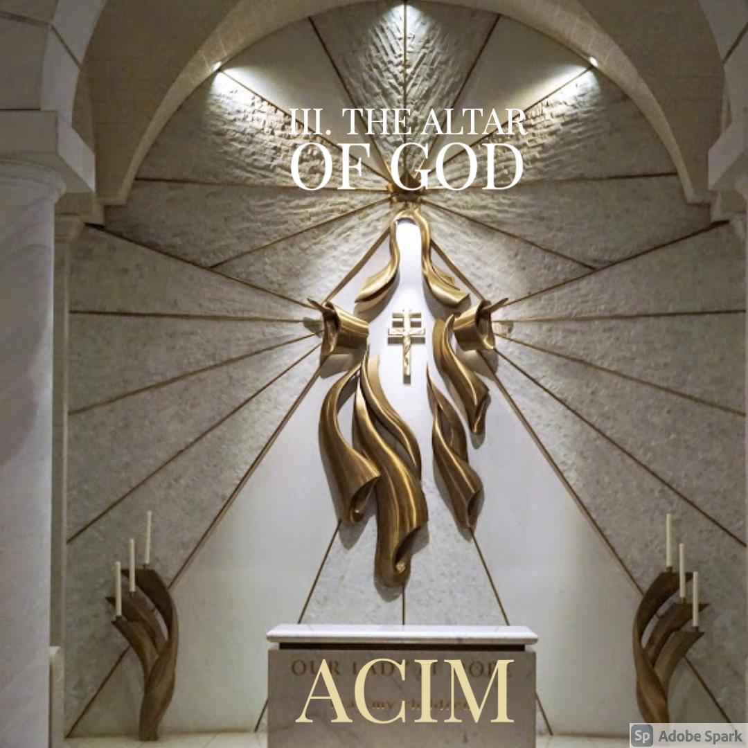 TEST#23 III. The Altar  of God