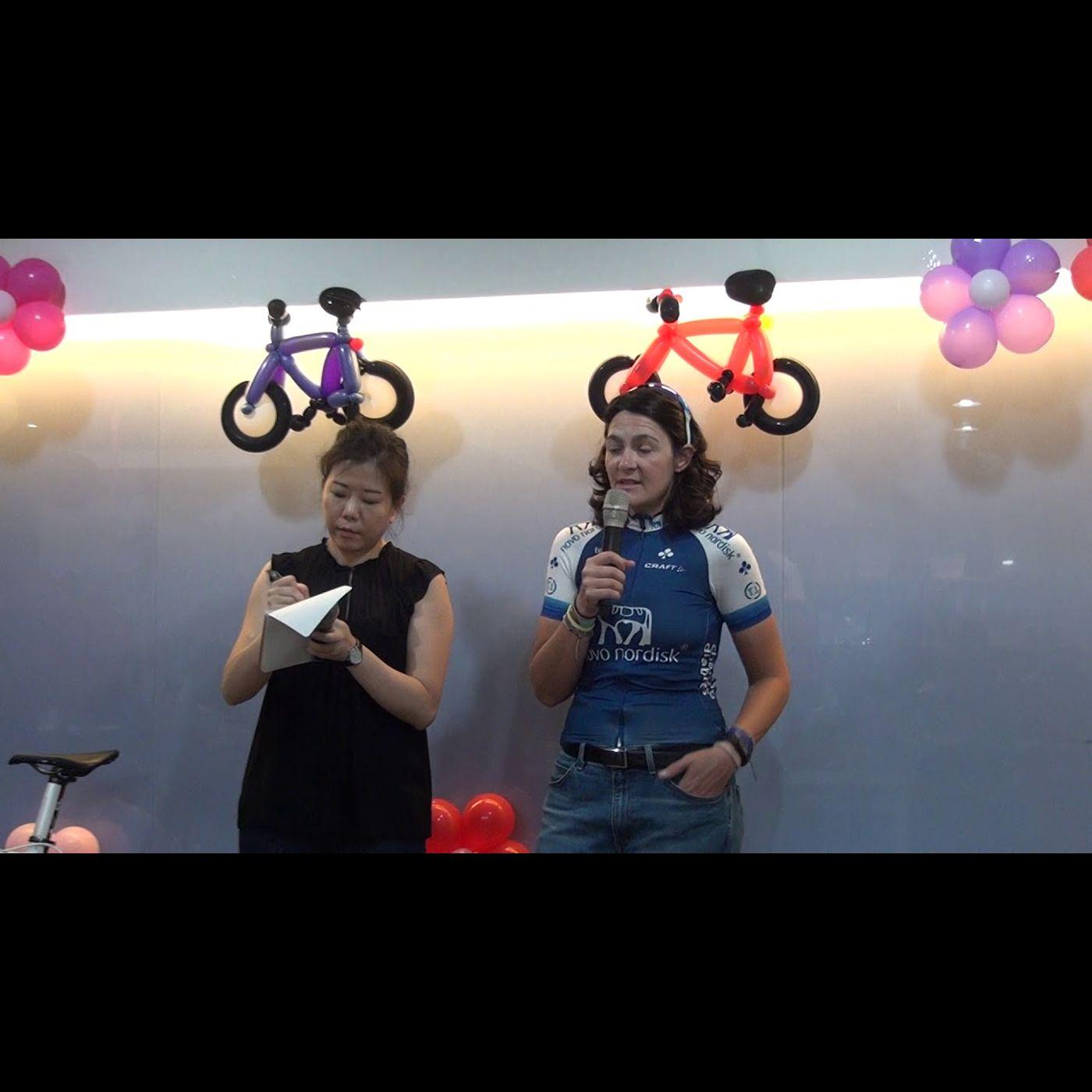 美國職業單車選手糖尿病友Becky分享會part1