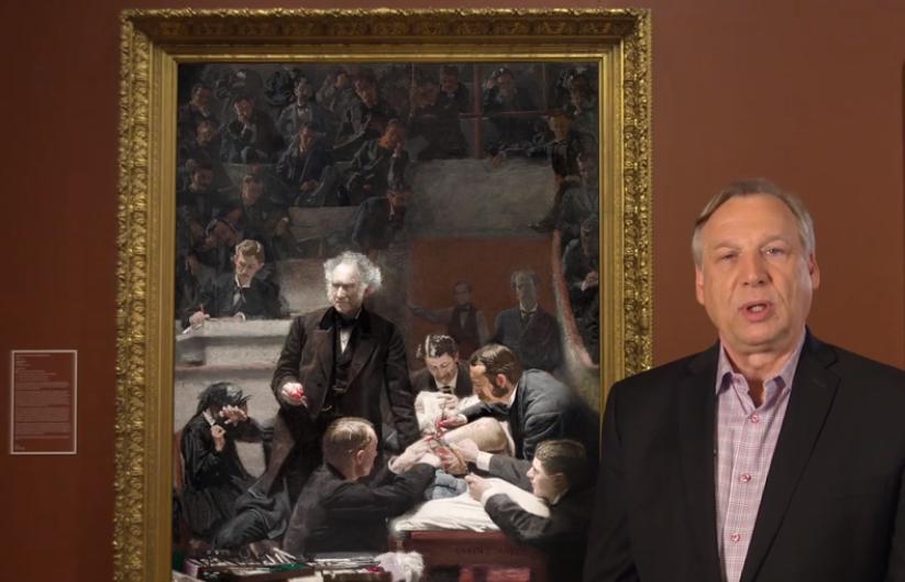 好網站推薦 Bank Of America Masterpiece Moment/美國銀行 大師經典導覽系列 Portrait of Dr. Samuel D. Gross (The Gross Clinic) by Thomas Eakins
